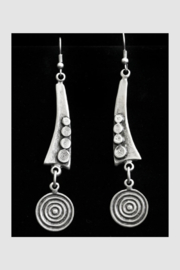 Chanour Pewter Earring 8 - Product Mini Image