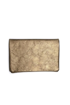 PaulyJen Pewter Metallic Leather Clutch - Product List Image