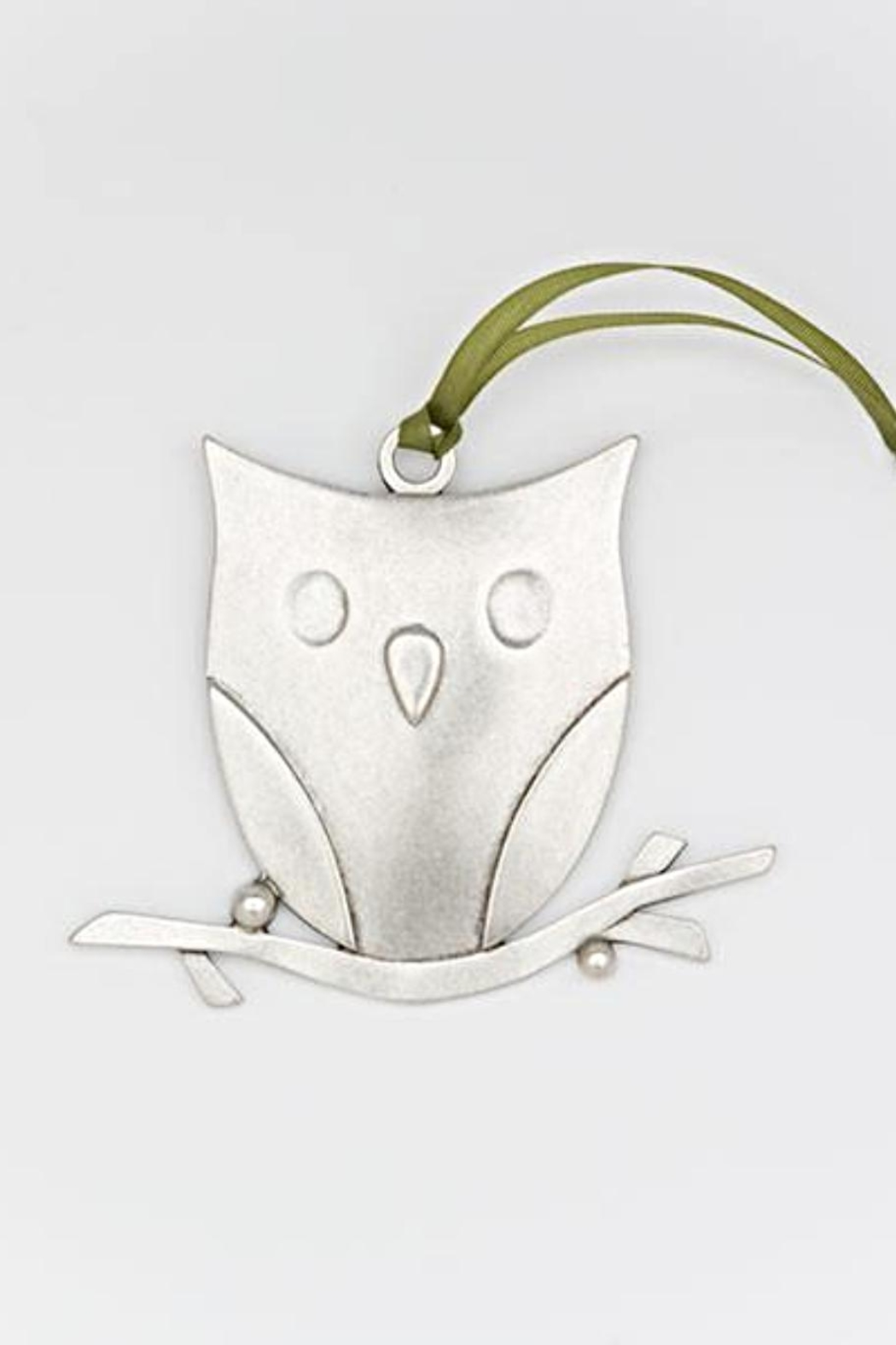 Beehive Handmade Co. Pewter Owl Ornament - Main Image