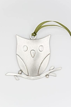 Beehive Handmade Co. Pewter Owl Ornament - Alternate List Image