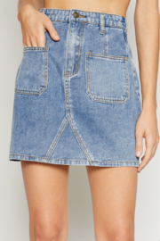Sadie and Sage Peyton Denim Skirt - Product Mini Image