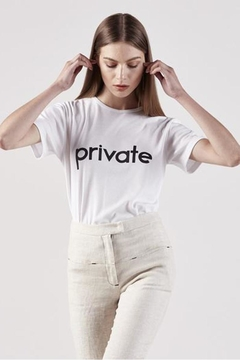 Pfeiffer Private White Tee - Product List Image