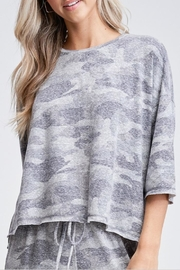 Phil Love Camouflage Print Top - Product Mini Image