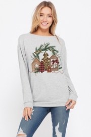 Phil Love Holiday Scene Sweatshirt - Front cropped