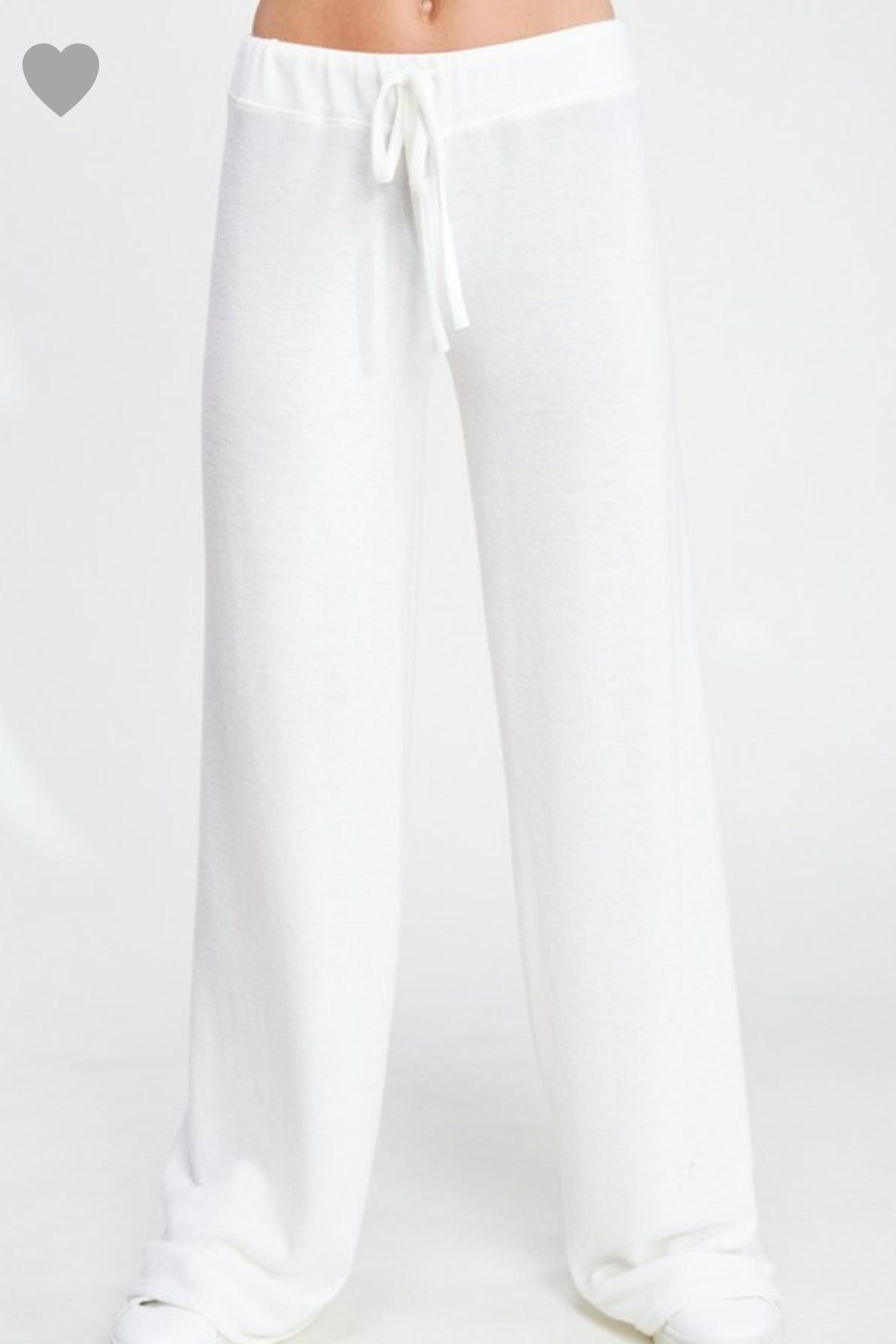 Phil Love Soft White Lounge Pants - Side Cropped Image