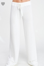 Phil Love Soft White Lounge Pants - Side cropped