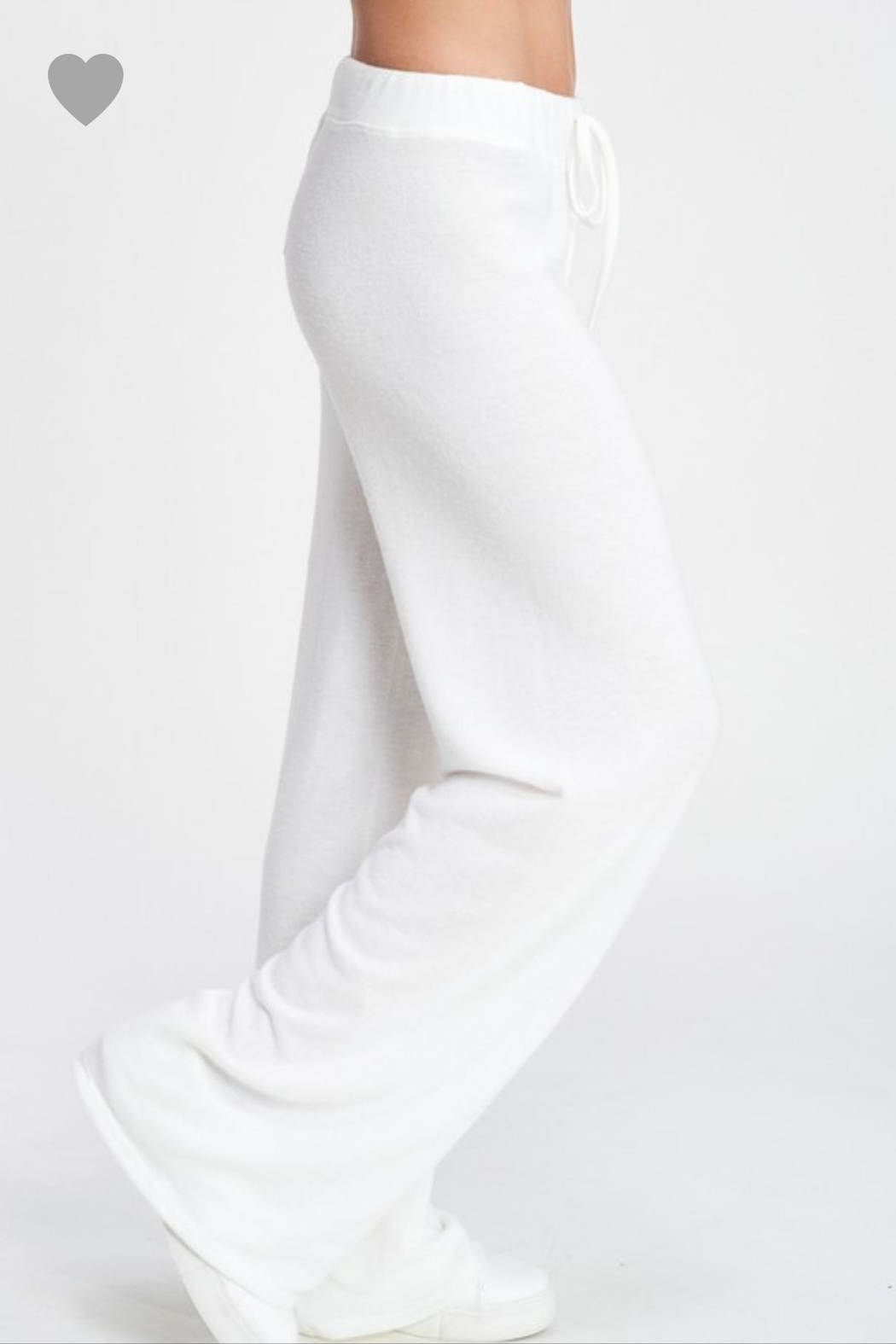 Phil Love Soft White Lounge Pants - Front Full Image