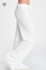 Phil Love Soft White Lounge Pants - Front full body