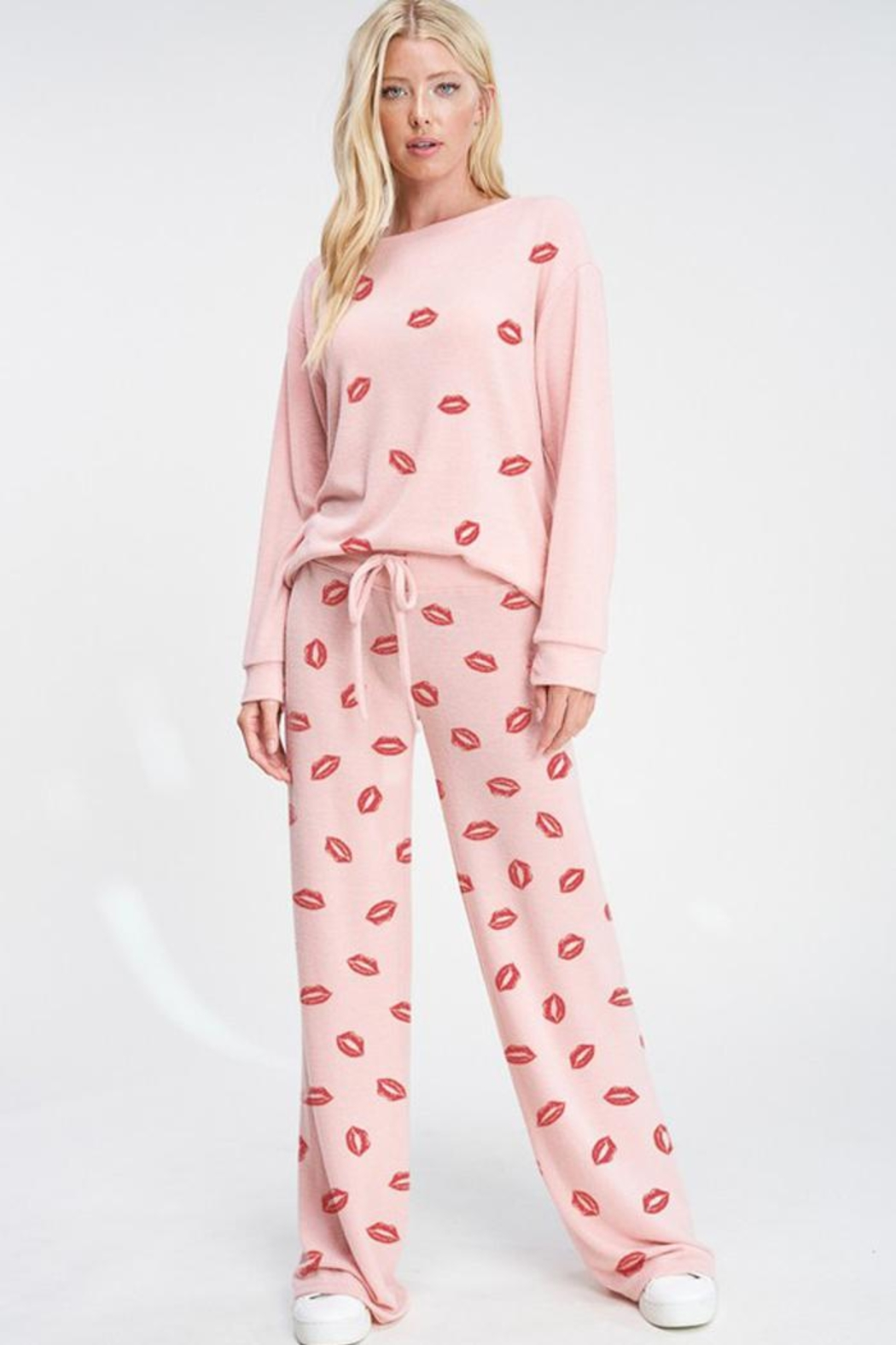Phil Love Valentine's Day  Lips All Over Lounge Wear Set - Front Full Image