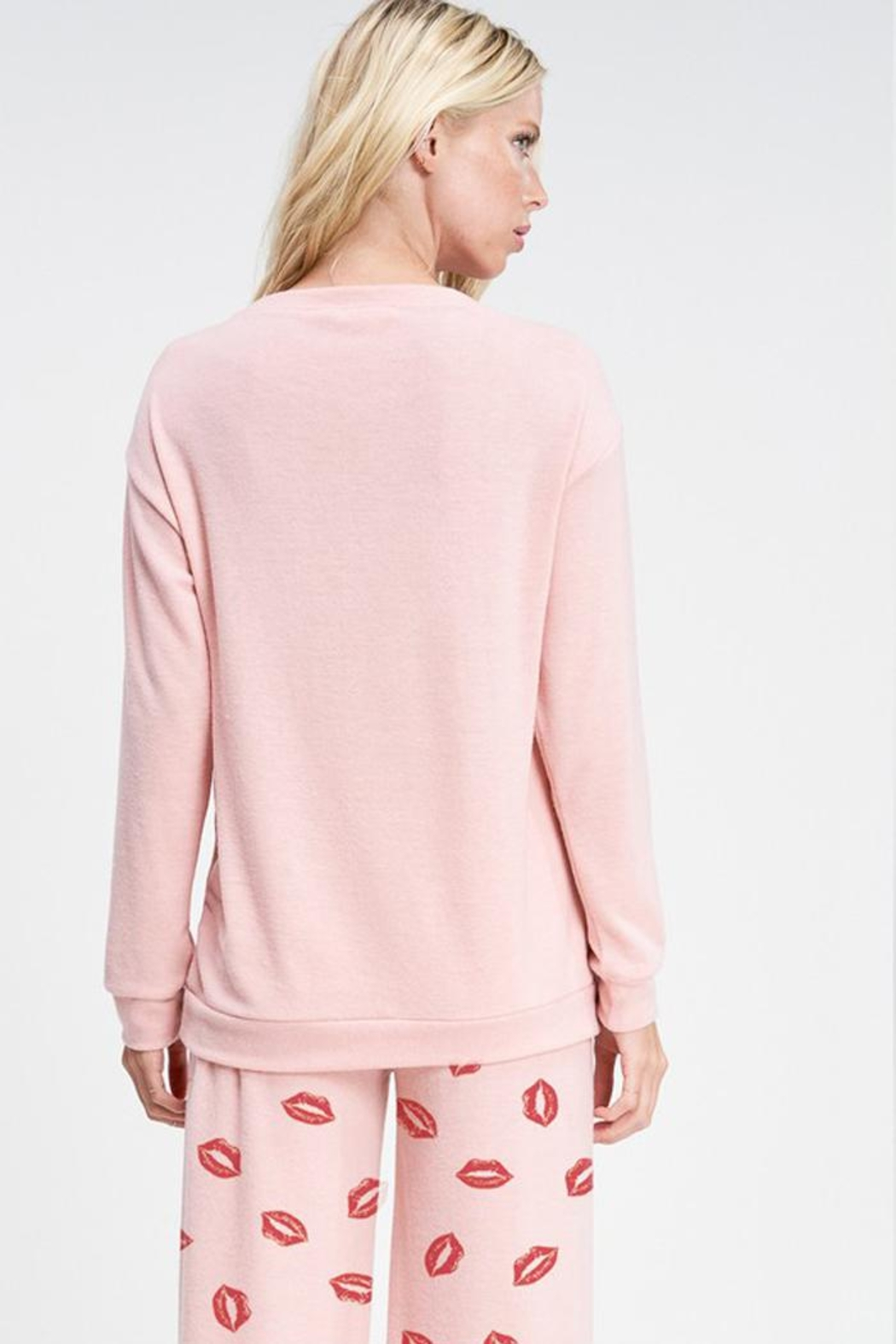 Phil Love Valentine's Day  Lips All Over Lounge Wear Set - Side Cropped Image