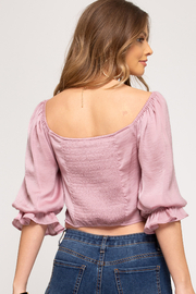 She and Sky Philippa Peasant Top - Side cropped