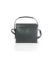 Philo Green Leather Satchel - Front cropped