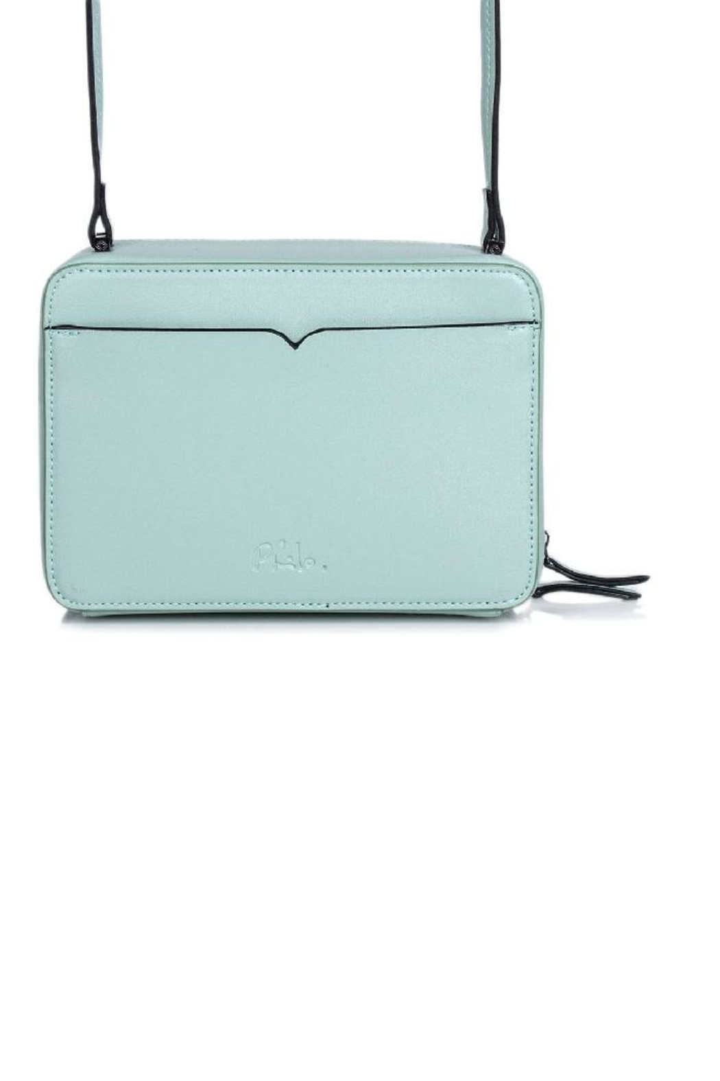 Philo Mint Leather Cross Body - Front Full Image