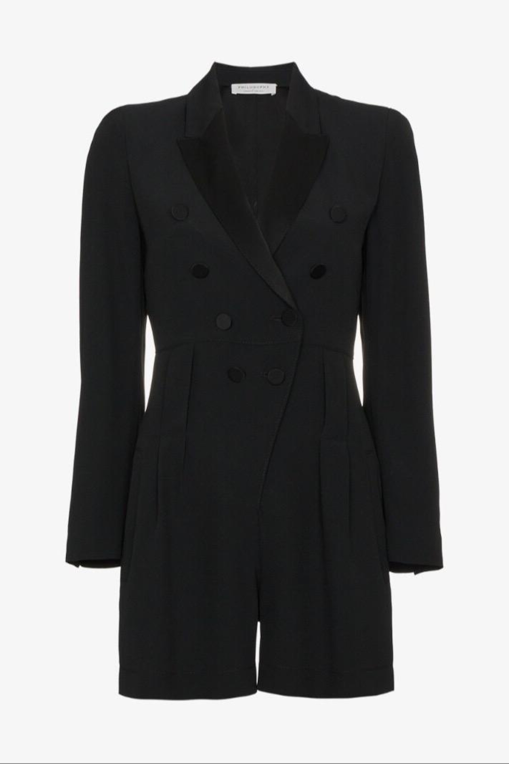 Philosophy di Lorenzo Serafini Black Tuxedo Playsuit - Main Image