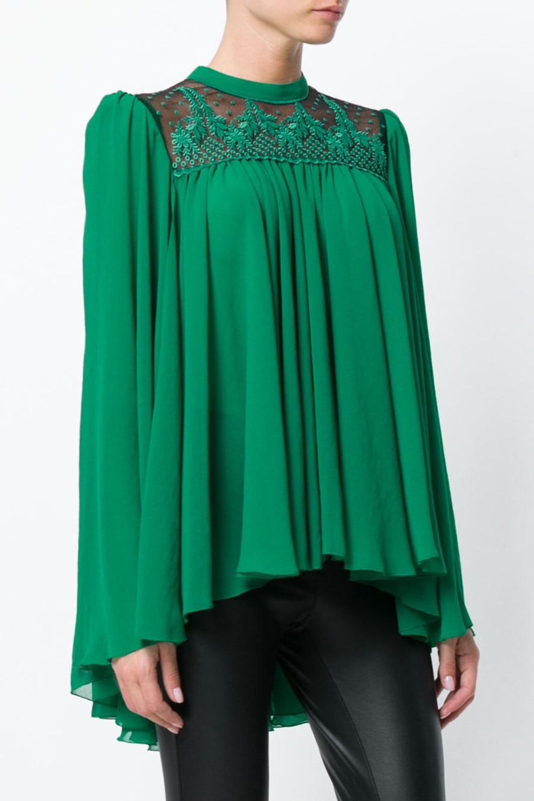 Philosophy di Lorenzo Serafini Embroidered Blouse - Side Cropped Image
