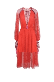 Philosophy di Lorenzo Serafini Red Lace Dress - Side cropped