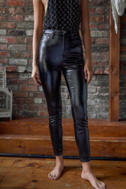 Free People  Phoenix Coated Skinny Jeans - Front cropped