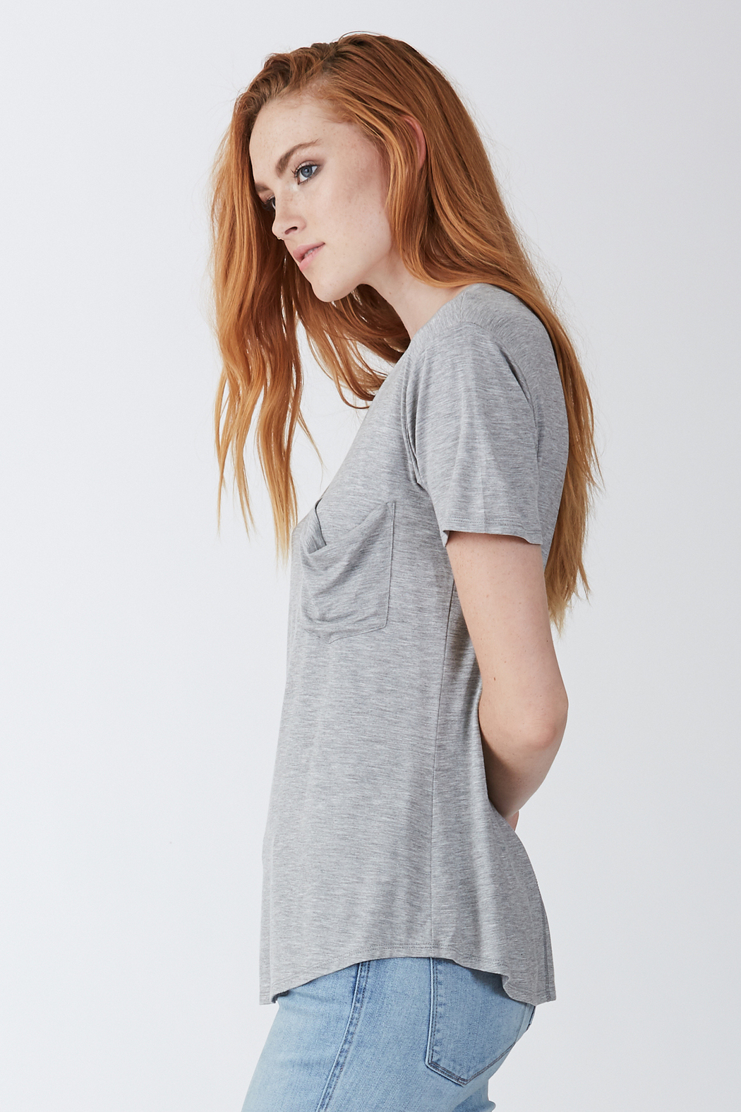 another love  Phoenix Soft V Neck Pocket Tee - Front Full Image