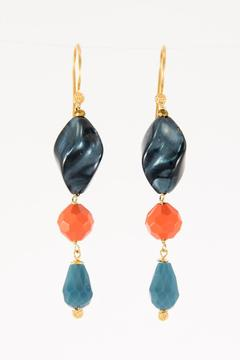 Pia Andersen Jewelry Blue Acrylic Earrings - Alternate List Image
