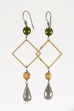 Pia Andersen Jewelry Vintage Glass Earrings - Alternate List Image