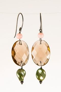 Pia Andersen Jewelry Pink Glass Bead Earrings - Alternate List Image