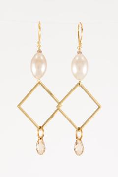 Pia Andersen Jewelry Vintage Drop Earrings - Alternate List Image