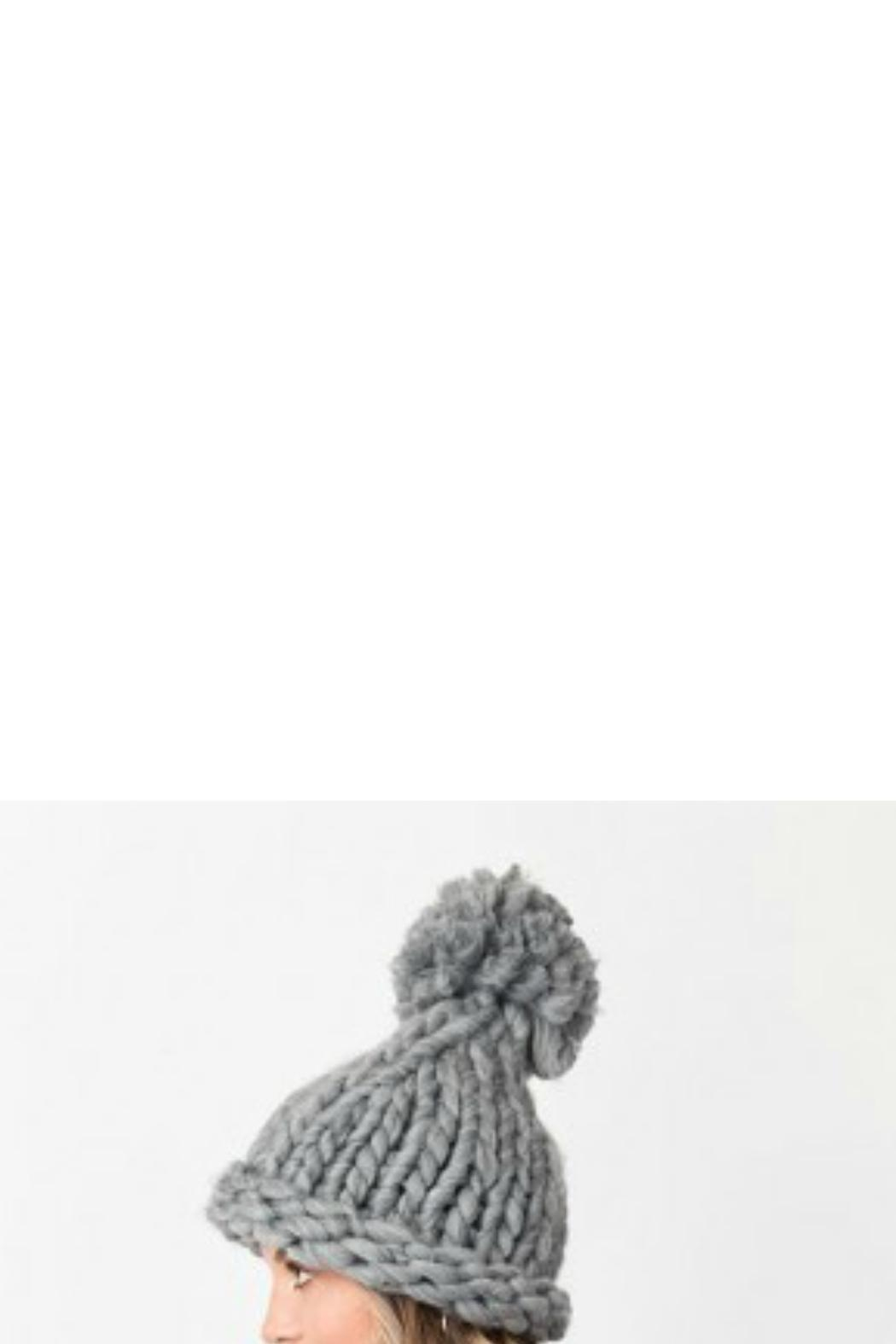 Pia Rossini Chunky Knit Hat - Side Cropped Image