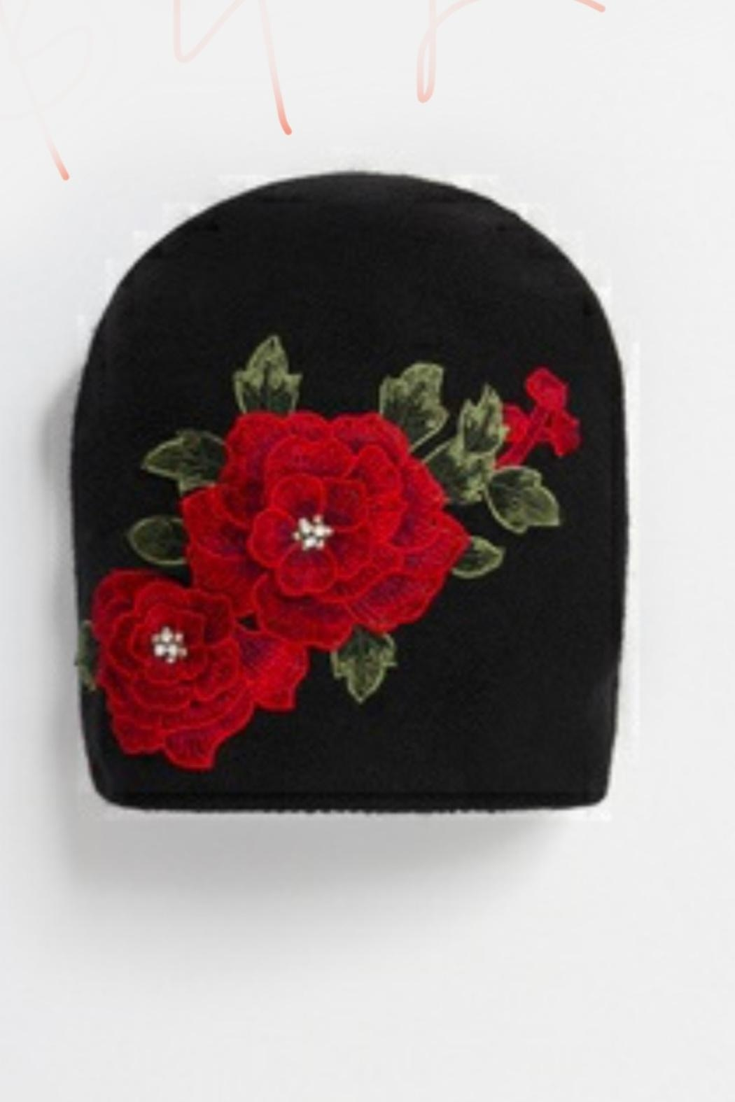 Pia Rossini Embroidered Flower Hat - Main Image