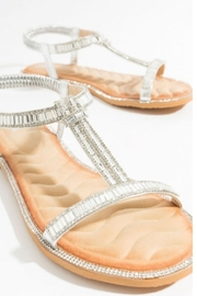 Pia Rossini Silver Stone Sandals - Front cropped