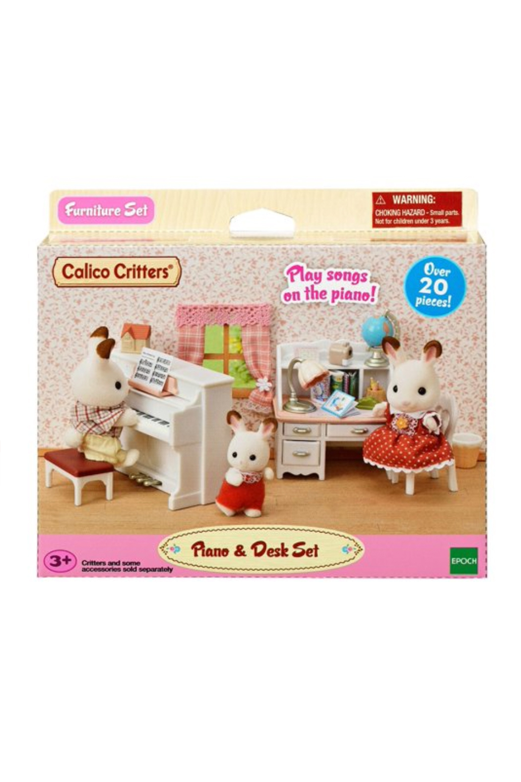 Calico Critters Piano Desk Set - Front Full Image