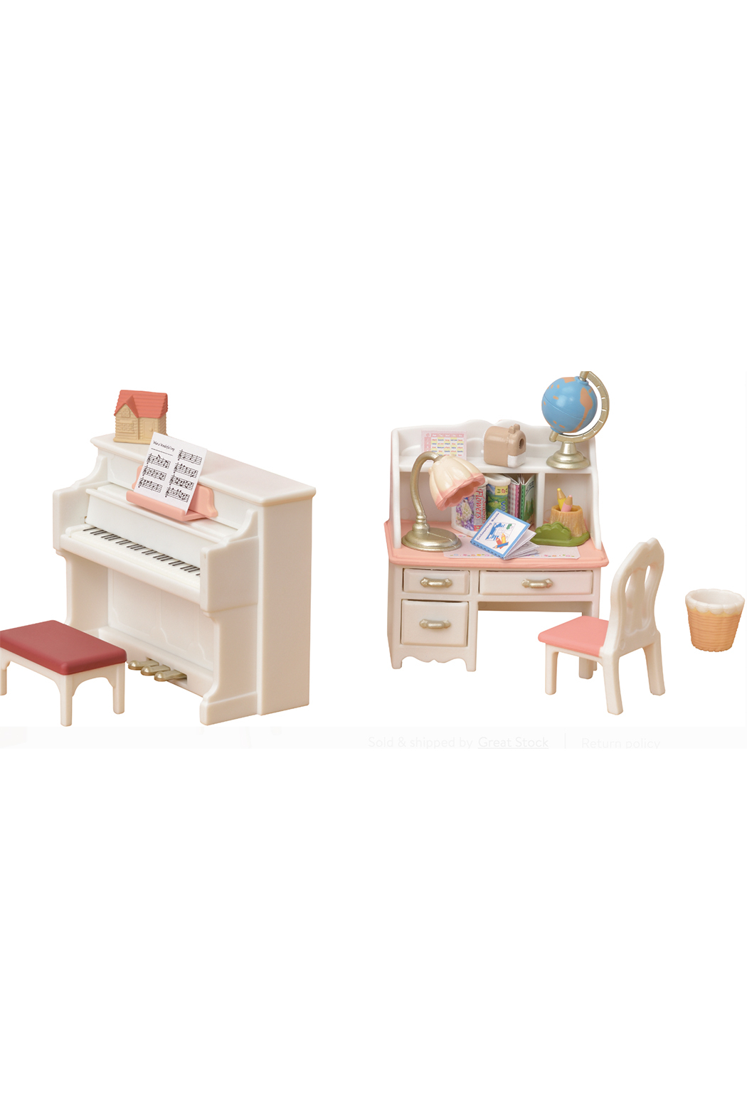 Calico Critters Piano Desk Set - Front Cropped Image