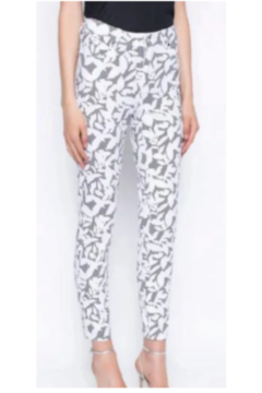Picadilly Picadill Ankle Length Pants Printed With Gingham and Leaves - Alternate List Image