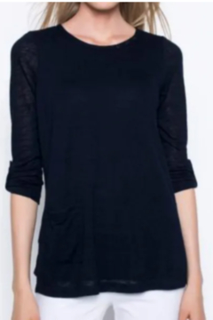 Picadilly 3/4 Sleeve Top With Side Pocket - Alternate List Image