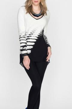 Shoptiques Product: Black White Abstract Tunic