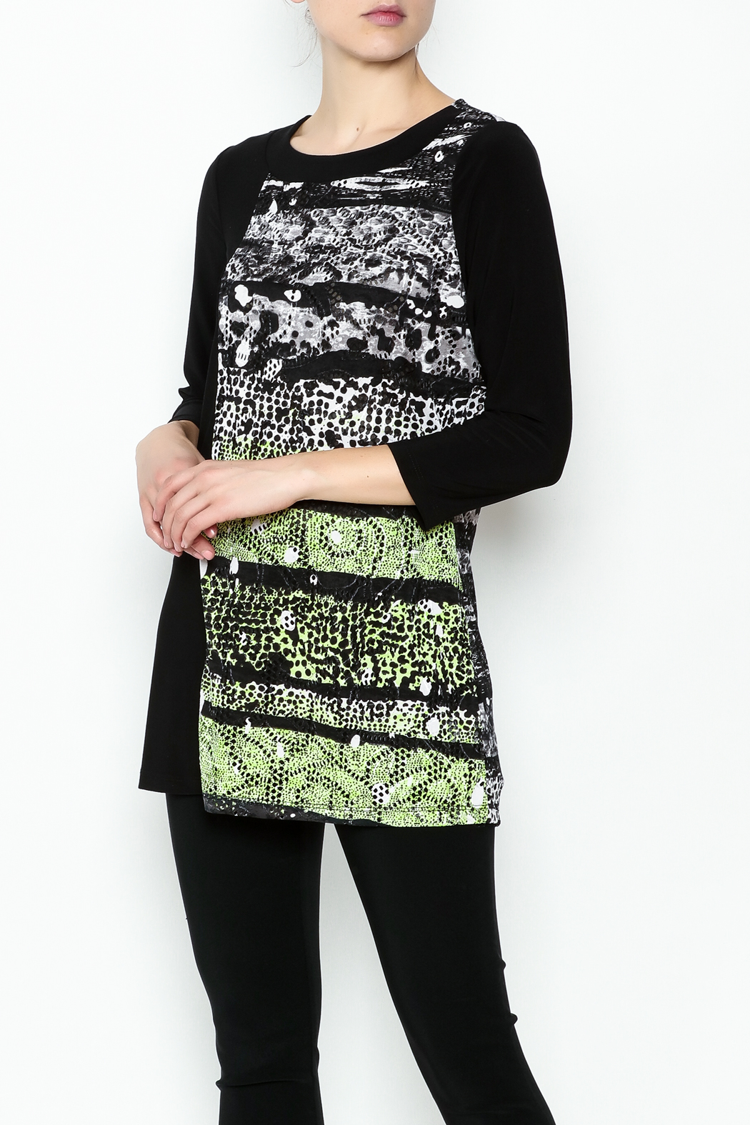 Picadilly Abstract Print Tunic - Front Cropped Image