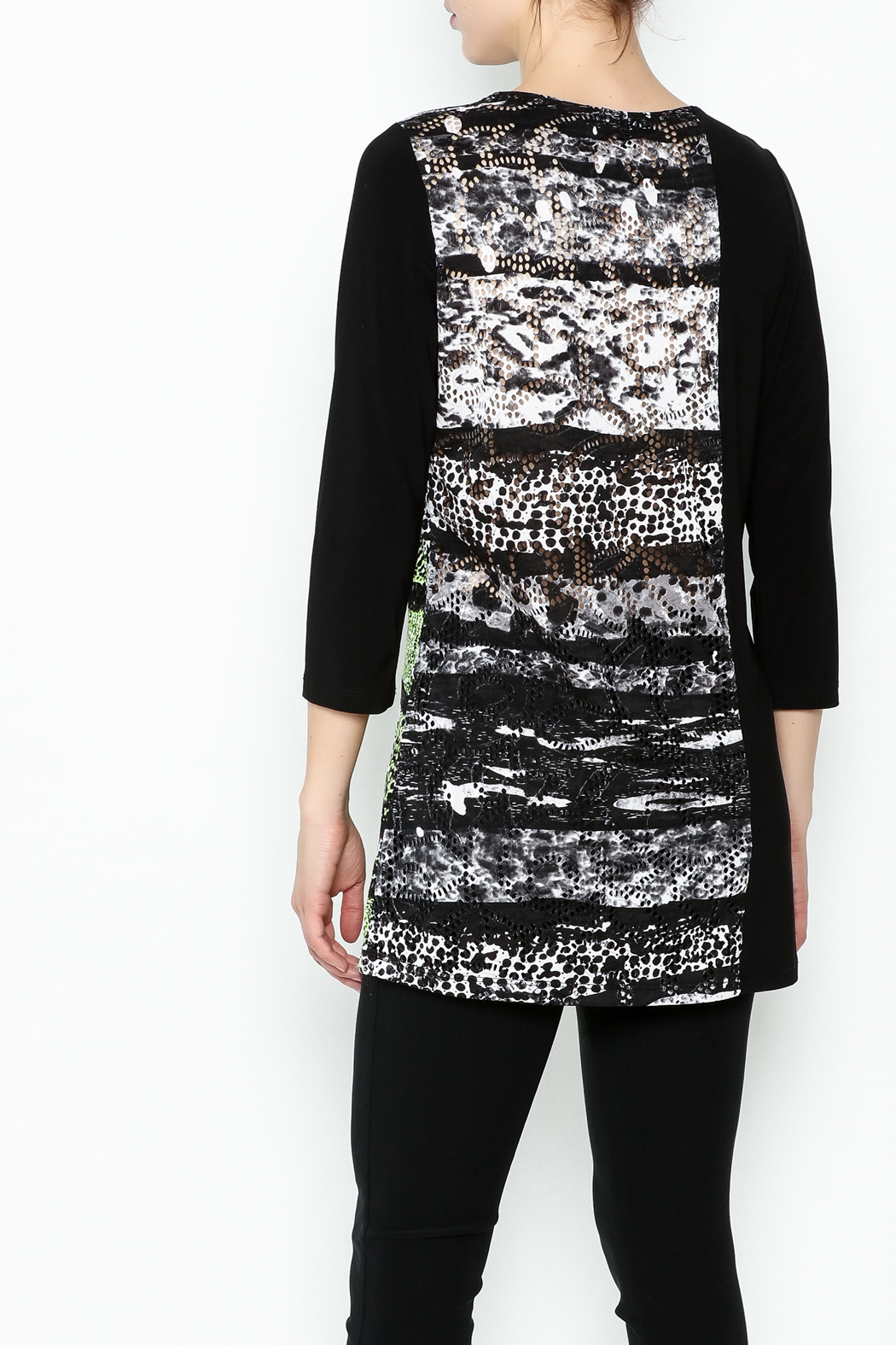 Picadilly Abstract Print Tunic - Back Cropped Image