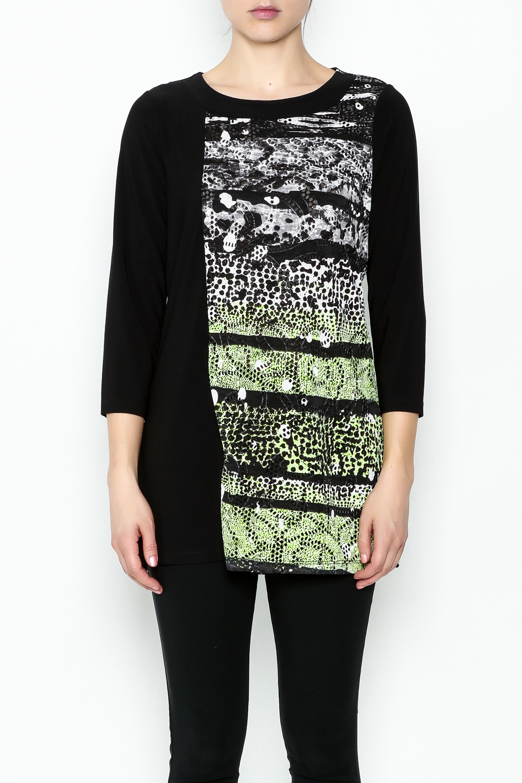 Picadilly Abstract Print Tunic - Front Full Image