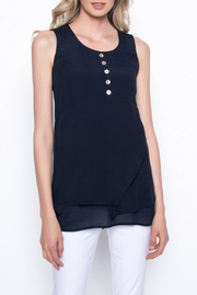 Picadilly Button Detail Tank - Front cropped