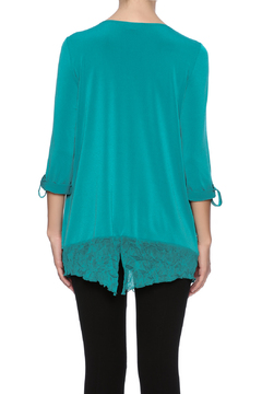 Shoptiques Product: Crinkle Overlay Top