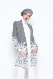 Picadilly Jacquard Sweater Jacket - Front cropped