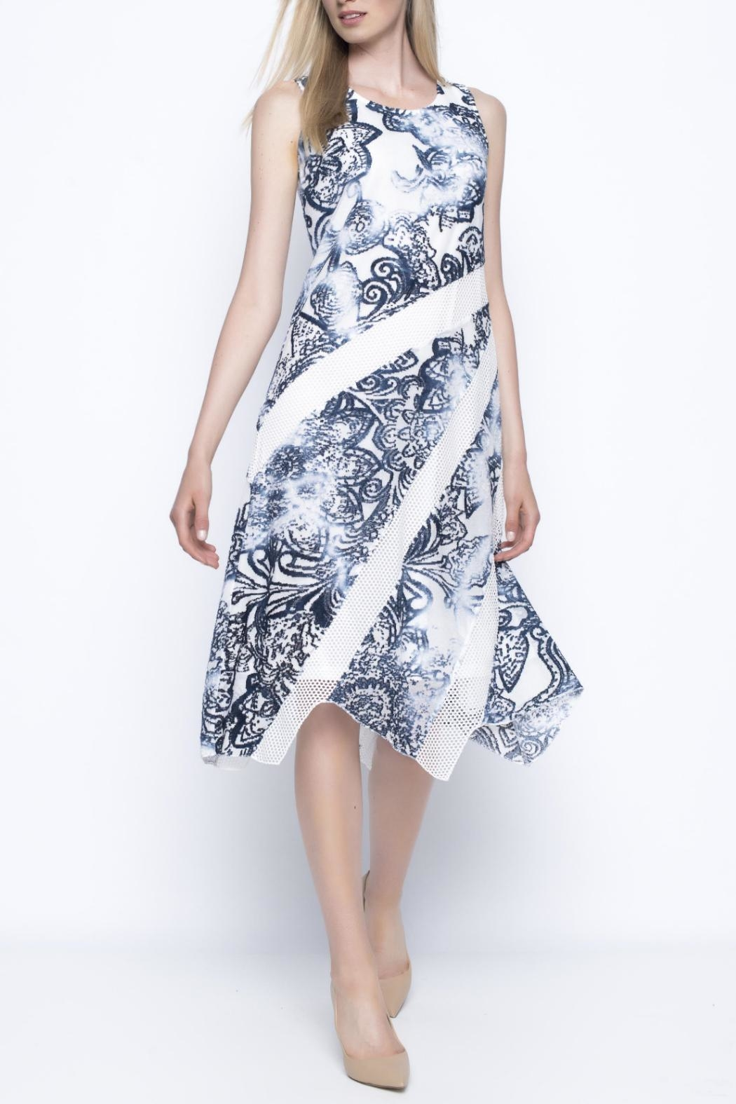 Picadilly Navy Floral Dress - Main Image