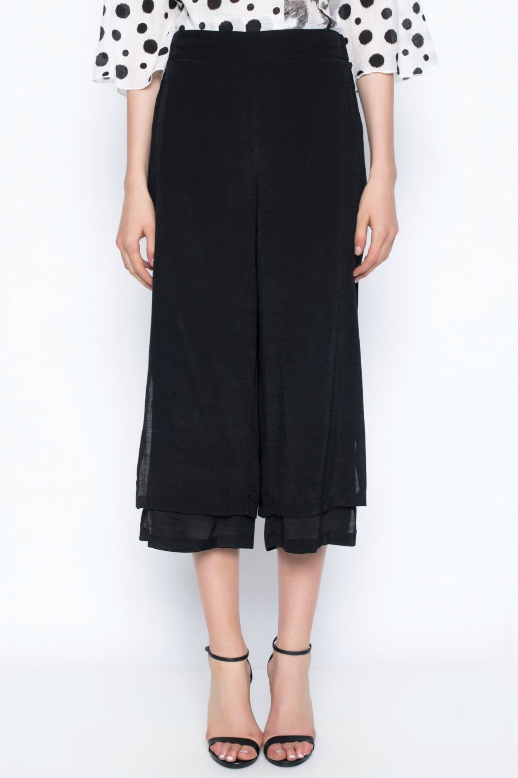 Picadilly Layered Cropped Pants - Front Full Image