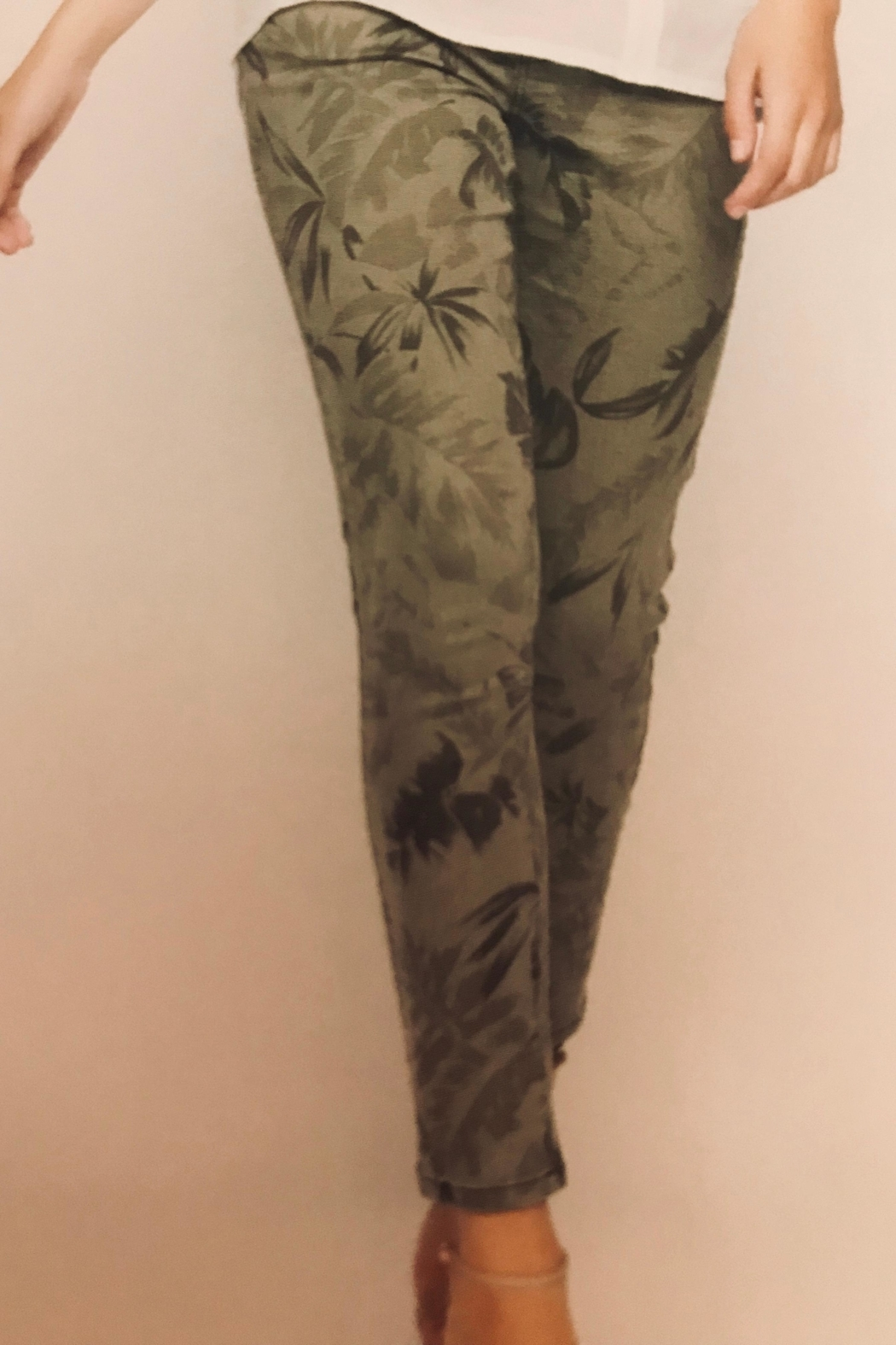 Picadilly Printed Denim Jeans - Front Full Image