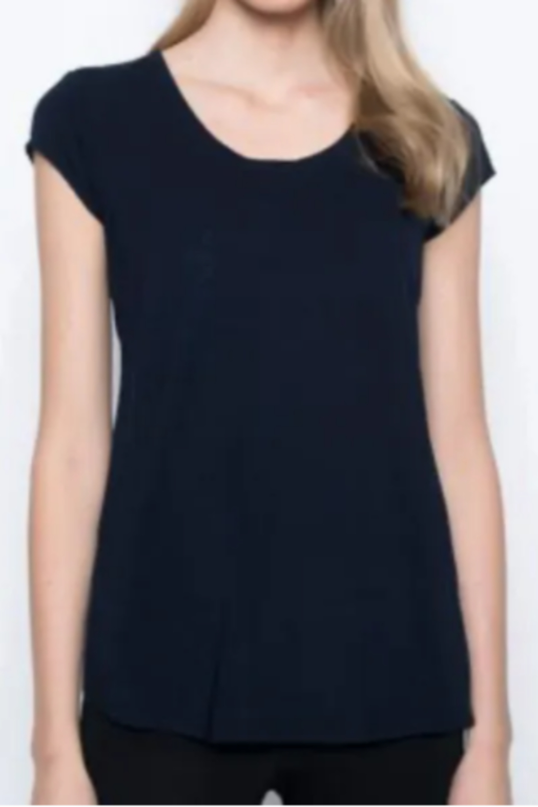 Picadilly Scoop Neck Short Sleeve Top - Main Image