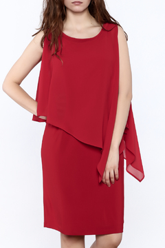 Shoptiques Product: Scarlet Red Knee Dress