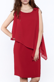 Picadilly Scarlet Red Knee Dress - Product Mini Image