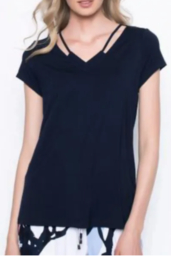 Picadilly Short Sleeve Top With Neck Line Strap - Alternate List Image