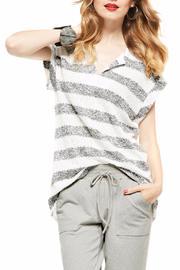 Picadilly Striped Vneck Top - Product Mini Image