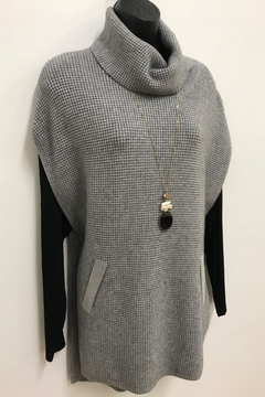 Shoptiques Product: Waffleknit Poncho Sweater
