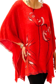 Patricia's Presents Picasso Inspired Hand Painted Poncho - Product Mini Image